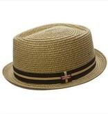 BC Hats Manchester Toyo Fedora, Natural