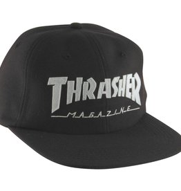 Eastern Skate Supply Thrasher Magazine Logo Felt Hat, Black/White