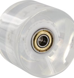 Eastern Skate Supply Yocaher Lighting LED Wheel, 60mm Clear with Blue LED, Set of 4
