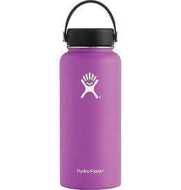 Hydroflask 32 oz Wide Mouth, Raspberry