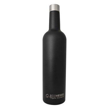 Insulated Wine Bottle, Black