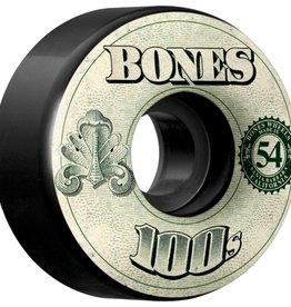 Eastern Skate Supply Bones 100's OG #11 54mm Black w/ Money, Set of 4