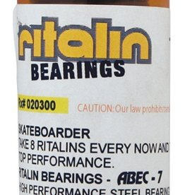 Eastern Skate Supply Ritalin Abec - 5 Red Bearings