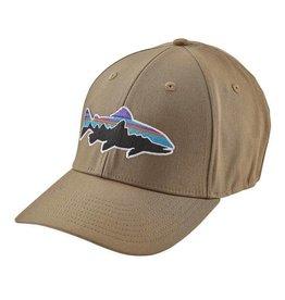 Patagonia Fitz Roy Stretch Fit Hat, Ash Tan