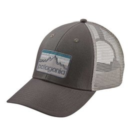 Patagonia Line Logo Badge LoPro Trucker Hat, Forge Grey