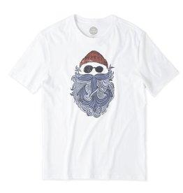 Life is Good Men's Salty Anchor Beard Smooth Tee, Cloud White