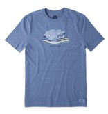 Life is Good Men's Beach Vista Crusher Tee, Heather Vintage Blue
