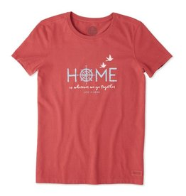 Life is Good Women's Compass Crusher Tee, Clay Red