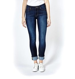 Dish and Duer Women's Performance Denim Straight and Narrow, Classic Indigo