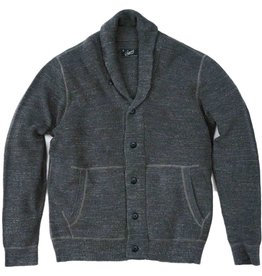 Grayers Men's Cabana Shawl Cardigan, Light Charcoal