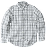 Grayers Men's Durham Double Cloth Shirt, Heather Gray Gingham