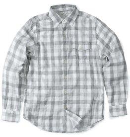 Grayers Men's Durham Double Cloth Shirt, Heather Gray Gingham
