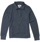 Grayers Men's Jensen Button Mock Pullover, Navy Heather