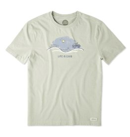 Life is Good Men's Off Road Beach Vista Crusher Tee, Dusty Green