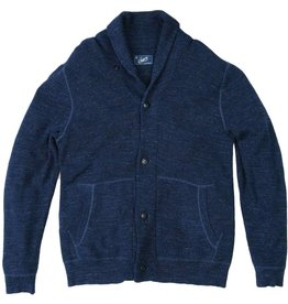 Grayers Men's Cabana Shawl Cardigan, Navy