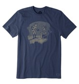 Life is Good Men's Guitar and Amp Crusher Tee, Darkest Blue