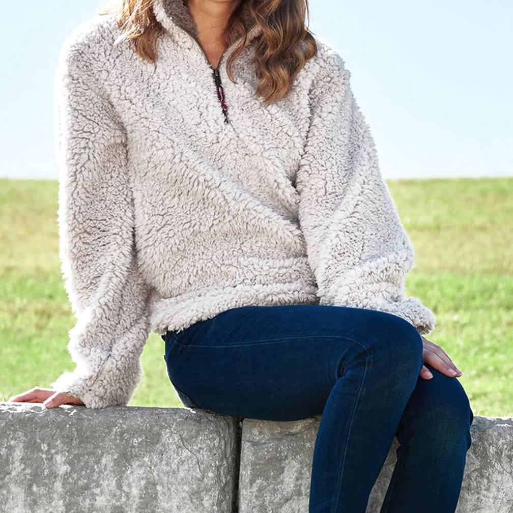 Appalachian Pile Pullover, White
