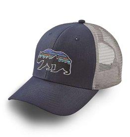 Patagonia Fitz Roy Bear Trucker Hat, Navy Blue