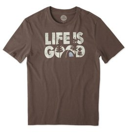 Life is Good Men's Life Is Good Campground Smooth Tee, Rich Brown