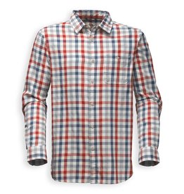 The North Face Men's Long Sleeve Hayden Pass Shirt, Shady Blue Plaid