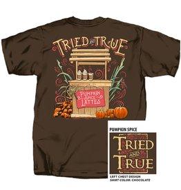 Tried and True Pumpkin Spice Latte T-shirt, Brown