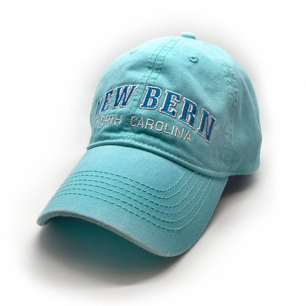 ESY New Bern Embroidered Hat, Mint/Turquoise