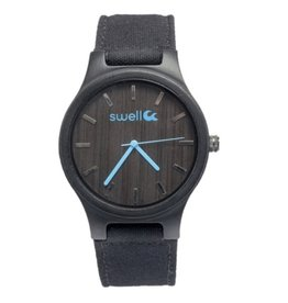 Swell Vision The Backpacker Bamboo Watch, Obsidian