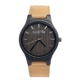 Swell Vision The Backpacker Bamboo Watch, Tundra