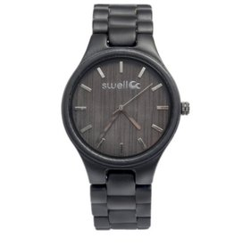 Swell Vision The Classic Onyx Bamboo Watch