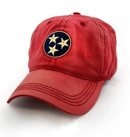 S.L. Revival Co. Tennessee Flag Tri-Star Hat, Vintage Red
