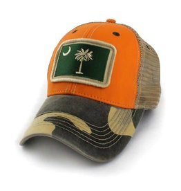 S.L. Revival Co. South Carolina Flag Trucker Hat, Structured, Outdoorsman Multi
