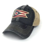 S.L. Revival Co. Ohio Flag Trucker Hat, Black