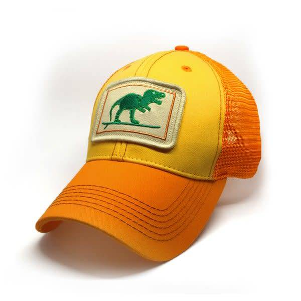 S.L. Revival Co. Everyday Trucker Hat, Structured, Surfing Rex, Sunshine