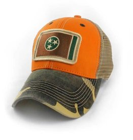 S.L. Revival Co. Tennessee Flag Trucker Hat, Structured, Outdoorsman Multi