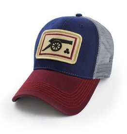 S.L. Revival Co. Jackson's Cannon Structured Everydy Trucker Hat, Vintage Patriotic