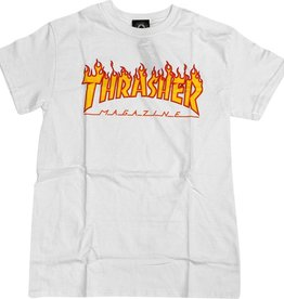 Eastern Skate Supply Thrasher Flame Tee, White