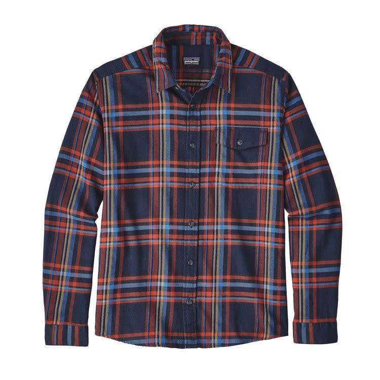 Patagonia M's L/S LW Fjord Flannel Shirt, Watershed: Navy Blue