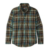 Patagonia M's L/S Pima Cotton Shirt, Cascade Plaid: Black
