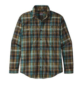 Patagonia M's L/S Pima Cotton Shirt, Cascade Plaid: Black