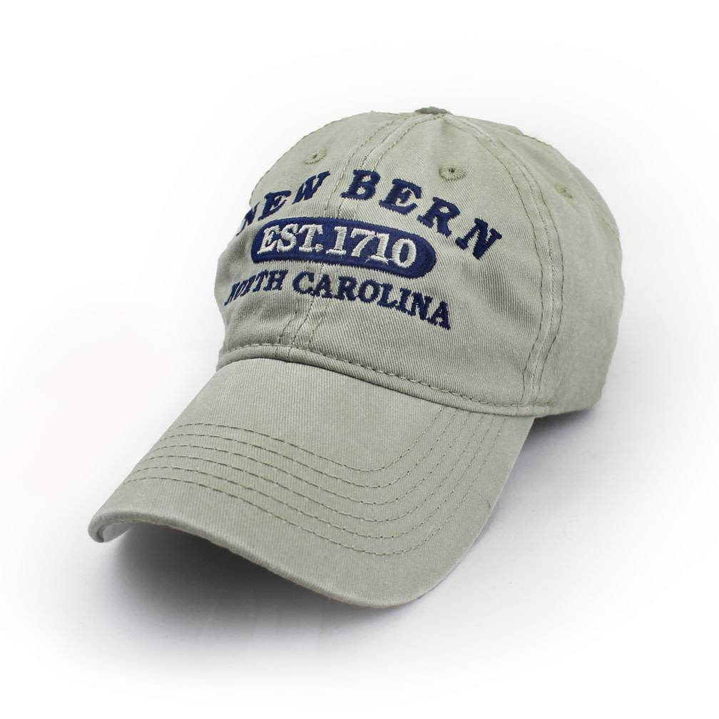 Surf, Wind and Fire New Bern Est.1710 Embroidered Hat, Sand