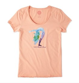 Life is Good W Smooth Tee Bend Yoga-Chalky Peach