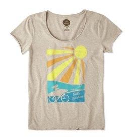 W Smooth Tee Bike Surf Sunshine-Heather Mocha
