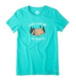Life is Good W Crusher Tee In Tents Life-Bright Teal