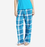 Life is Good W Classic Sleep Blue Plaid-Cool Turquoise