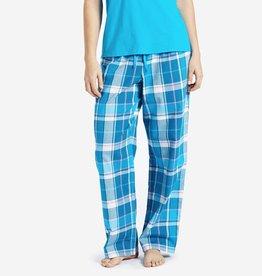 Life is Good W Classic Sleep Blue Plaid-Cool Turquoise