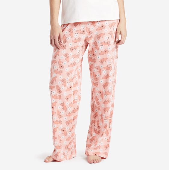 Life is Good W Sleeping Rocket Jersey Sleep Pants-Chalky Sleep