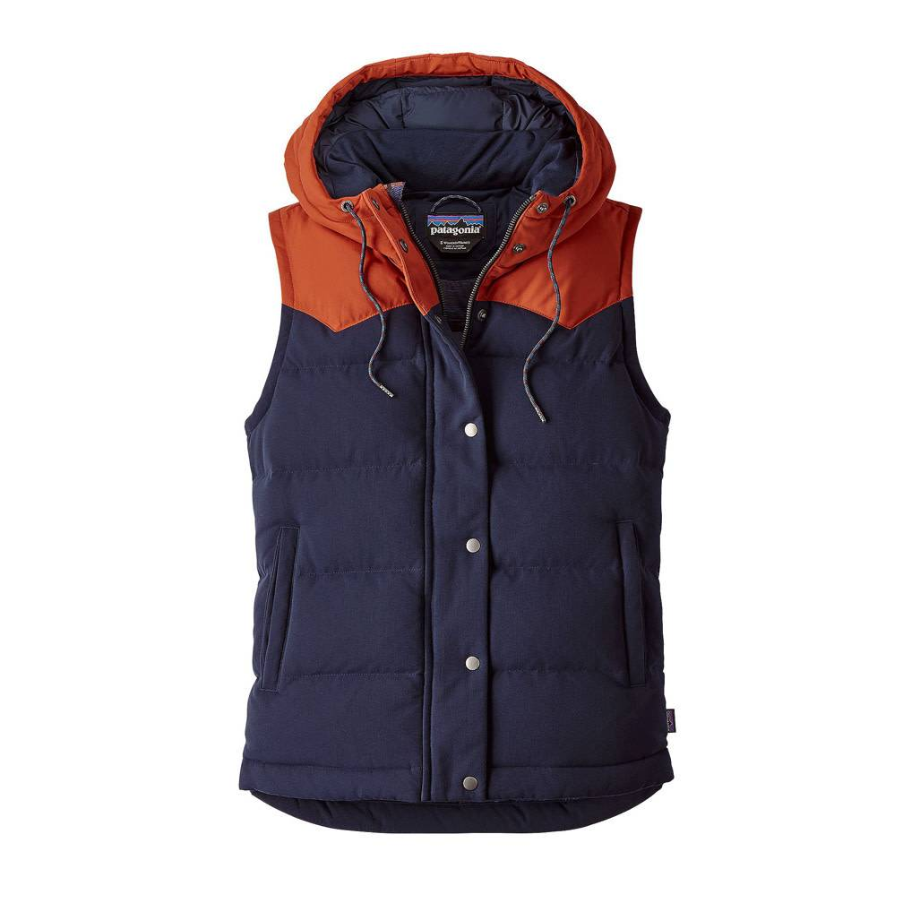 Patagonia Women's Bivy Hooded Vest, Navy Blue