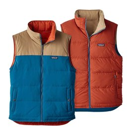 Patagonia Men's Reversible Bivy Down Vest, Big Sur Blue