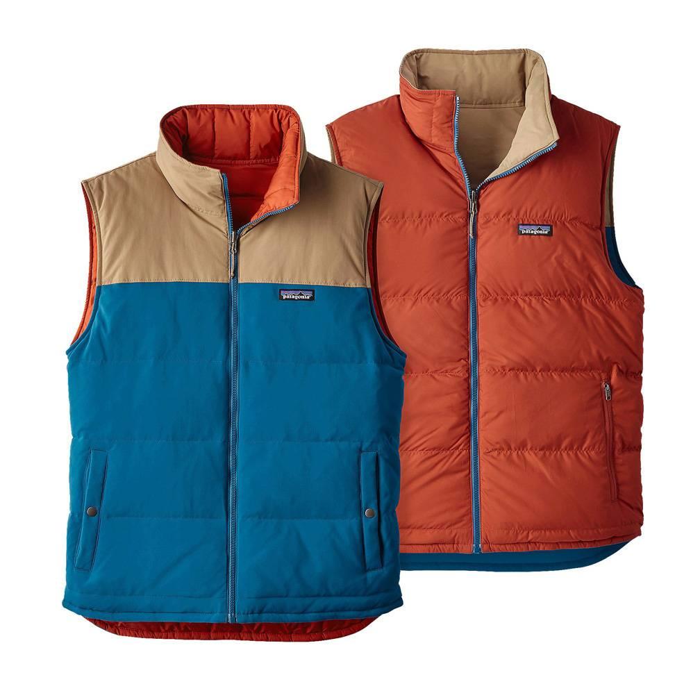 Patagonia Men's Reversible Bivy Down Vest, Big Sur Blue