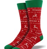 Socksmith M's Dasher Dancer Socks, Red